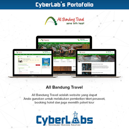 All Bandung Travel Portfolio Website CyberLabs