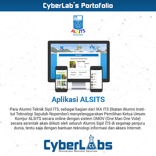 ALSITS portfolio website dan aplikasi Android CyberLabs