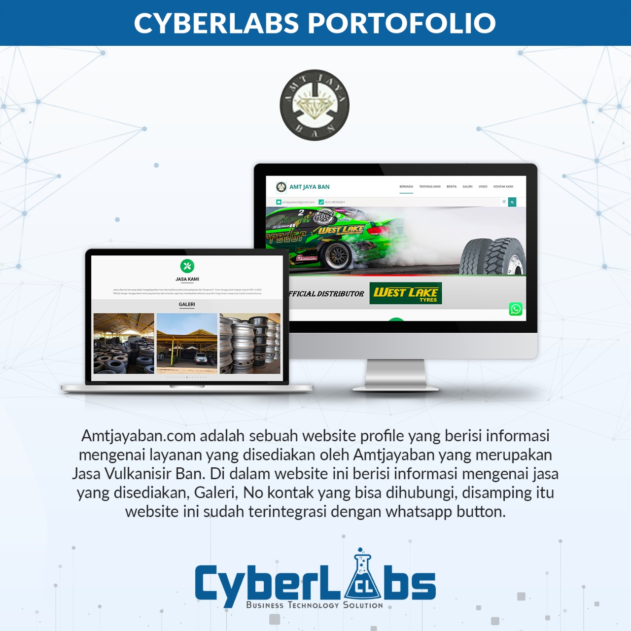 Amtjayaban - Portfolio Website CyberLabs